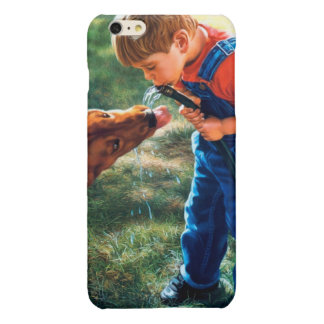 A Boy and his Dog Water Hose Thirst Colorful Glossy iPhone 6 Plus Case