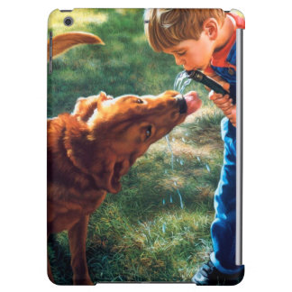 A Boy and his Dog Water Hose Thirst Colorful iPad Air Cases