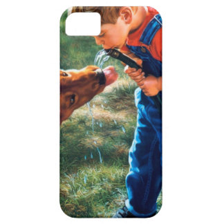 A Boy and his Dog Water Hose Thirst Colorful iPhone SE/5/5s Case