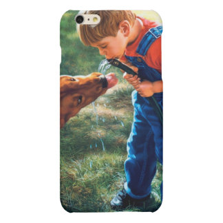 A Boy and his Dog Water Hose Thirst Colorful Matte iPhone 6 Plus Case