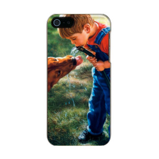A Boy and his Dog Water Hose Thirst Colorful Metallic Phone Case For iPhone SE/5/5s