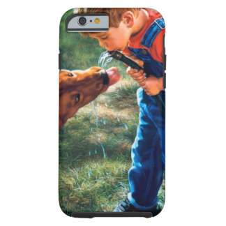 A Boy and his Dog Water Hose Thirst Colorful Tough iPhone 6 Case