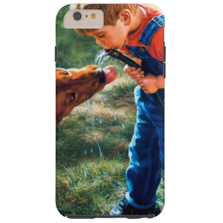 A Boy and his Dog Water Hose Thirst Colorful Tough iPhone 6 Plus Case