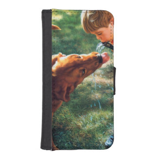 A Boy and his Dog Water Hose Thirst Colorful Wallet Phone Case For iPhone SE/5/5s