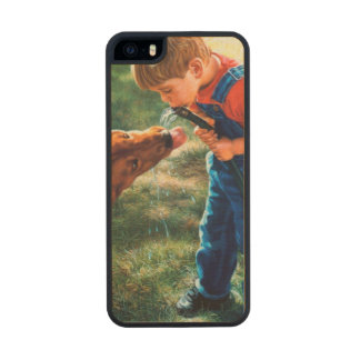 A Boy and his Dog Water Hose Thirst Colorful Wood iPhone SE/5/5s Case