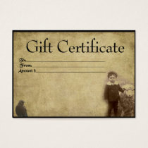 A Boy And His Sheepy- Prim Gift Certificate Cards