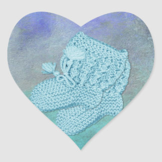A Boy Envelope Seals Heart Sticker