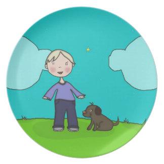 A Boy & His Dog Plate