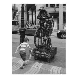 A boy in Barcelona Postcard