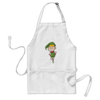 a boy in green joker dress adult apron