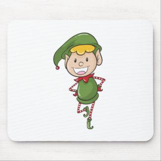 a boy in green joker dress mouse pad