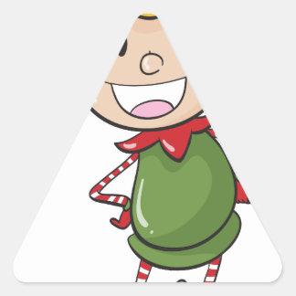 a boy in green joker dress triangle sticker