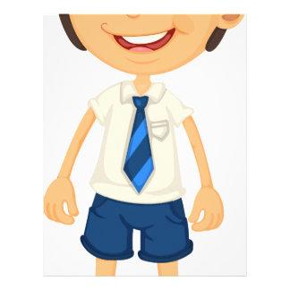 a boy in school uniform letterhead