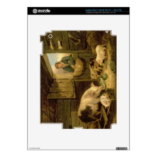 A Boy Looking into a Pig Sty, 1794 (oil on canvas) iPad 3 Decal