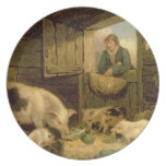 A Boy Looking into a Pig Sty, 1794 (oil on canvas) Plate