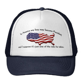 a boy may be president trucker hat