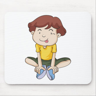a boy mouse pad