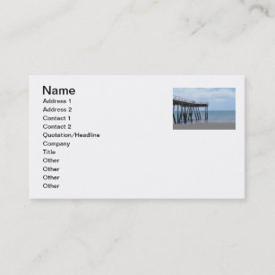 Queensland business cards zazzle a boy on a bike at the hervey bay ocean pier business card colourmoves