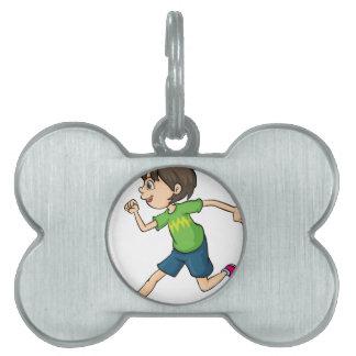 A boy pet tag