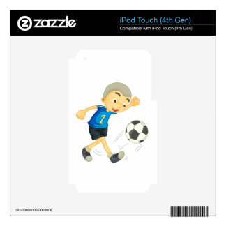 a boy playing football iPod touch 4G skin