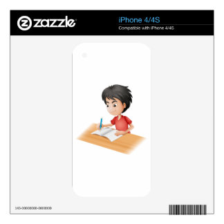 A boy sketching iPhone 4 skin