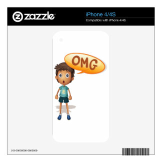 a boy decal for iPhone 4
