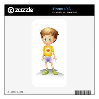 a boy iPhone 4 skin