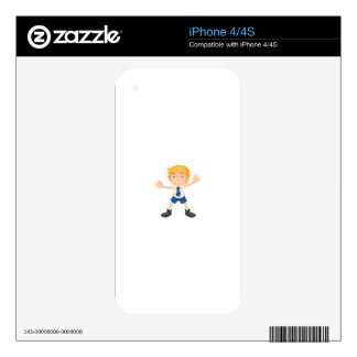 a boy iPhone 4S decal
