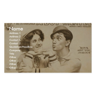 A Boy Wanted Girl, 'Boy's Ain't you Jealous' Double-Sided Standard Business Cards (Pack Of 100)