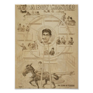 A Boy Wanted Girl, 'One Round of Pleasure' Retro T Print
