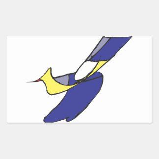 A Boy with a Bird Rectangular Sticker