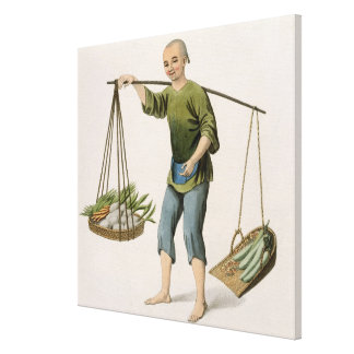 A Boy with Vegetables, plate 54 from 'The Costumes Canvas Print