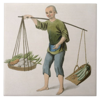 A Boy with Vegetables, plate 54 from 'The Costumes Tile