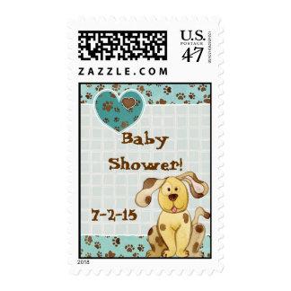 A Boy's Best Friend Baby Shower Invitation Postage