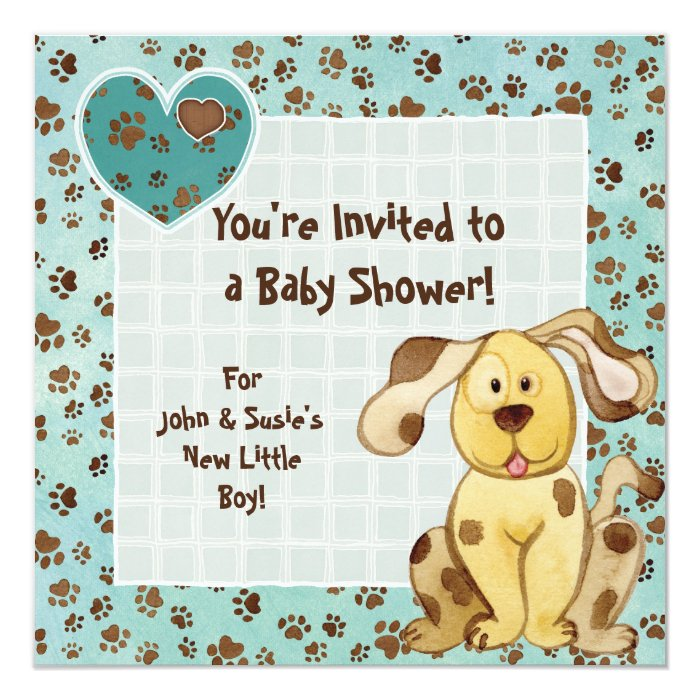 A Boy's Best Friend, Cute Puppy Baby Shower Card