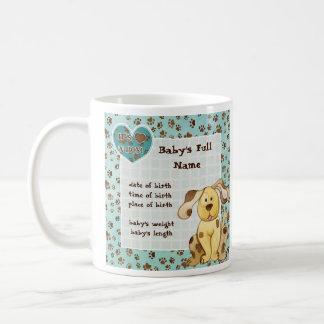 A Boy's Best Friend Photo Baby Announcement Mug