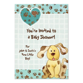 A Boy's Best Friend Photo Baby Shower Invitation