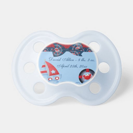 boys sea life baby shower baby pacifiers zazzle