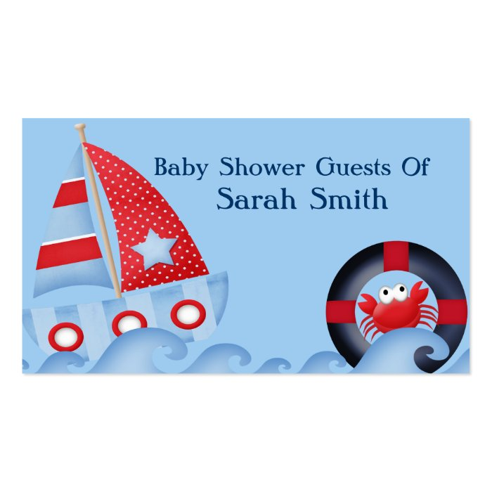 A Boys Sea Life Baby Shower Business Card