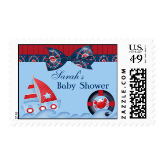 A Boys Sea Life Baby Shower Postage Stamp