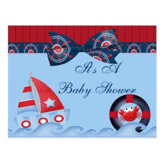 A Boys Sea Life Baby Shower Postcard