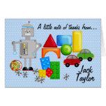 A Boy's Toys Notecards Stationery Note Card