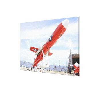 A BQM-74E Chukar drone ready for launch Canvas Print