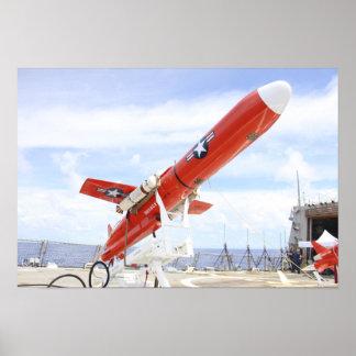 A BQM-74E Chukar drone ready for launch Poster