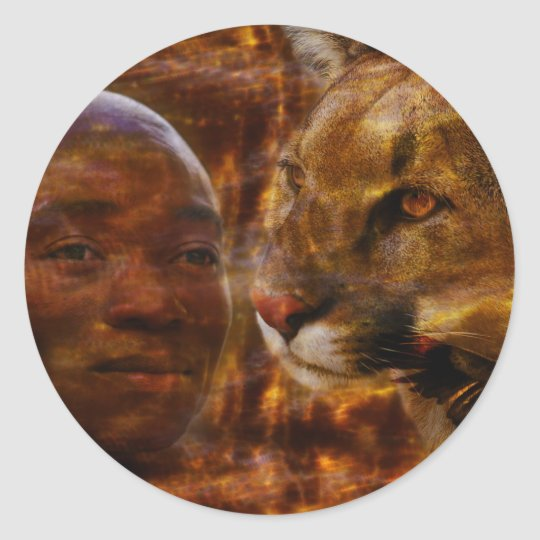 A brave warrior in South Africa Classic Round Sticker