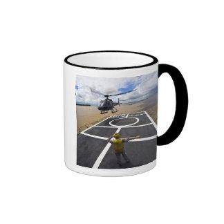 A Brazilian Eurocopter prepares to land Ringer Mug