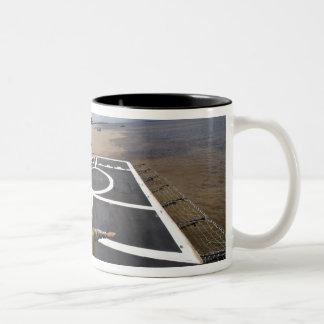 A Brazilian Eurocopter prepares to land Two-Tone Coffee Mug