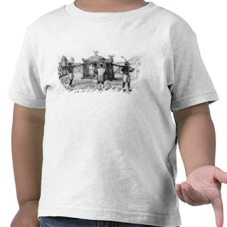 A Brazilian Sedan Chair and a Person Begging T-shirt