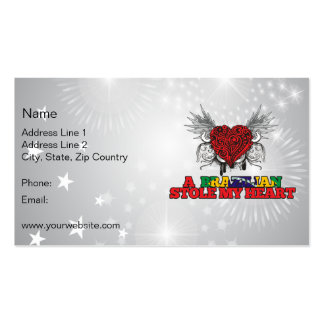 A Brazilian Stole my Heart Double-Sided Standard Business Cards (Pack Of 100)