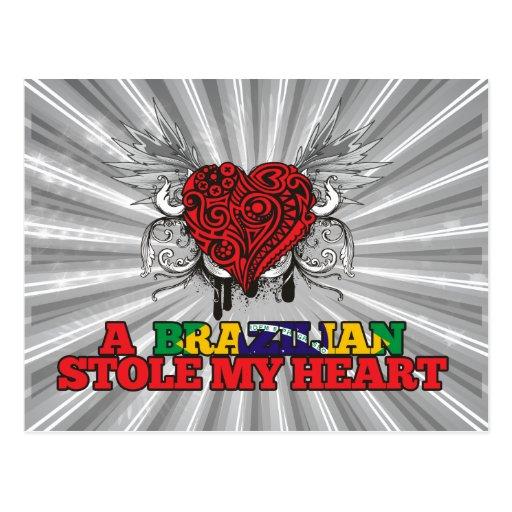 A Brazilian Stole my Heart Post Card
